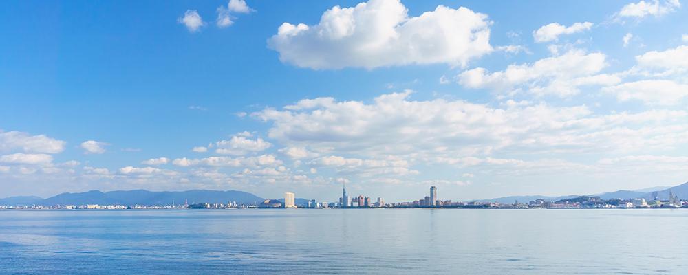 博多湾の風景